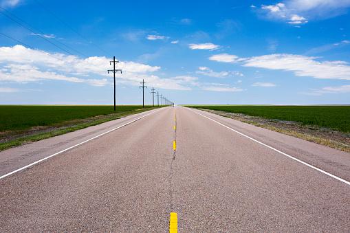 Kansas「Distant roadway in Kansas」:スマホ壁紙(6)