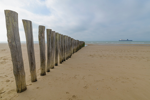 Calais「Wooden breakwater, Calais, Pas-de-Calais, Hauts-de-France, France」:スマホ壁紙(12)