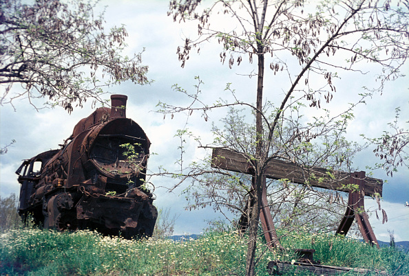 Horror「'Haunted Locomotive'. The wreck of Tithorea long since abandoned following a crash many years previously Greek Railway's La Class 2-10-0 No.908 built by STEG in Vienna in 1926 to a design following Karl Golsdorfs' classic 580 Class for the Austrian Empir」:写真・画像(16)[壁紙.com]
