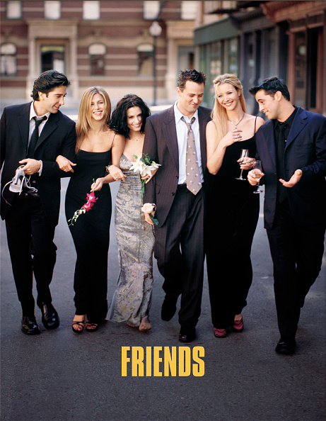 Television Show「Cast Members Of NBC's Comedy Series Friends Pictured (L) To R : David Schwimmer As Ross」:写真・画像(10)[壁紙.com]