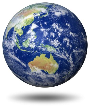 地球「アースモデル: オーストラリアの眺め」:スマホ壁紙(9)