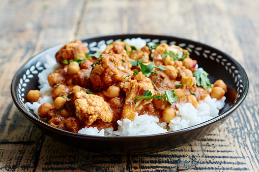 Indian Food「Cauliflower Chickpea Tikka Masala」:スマホ壁紙(12)