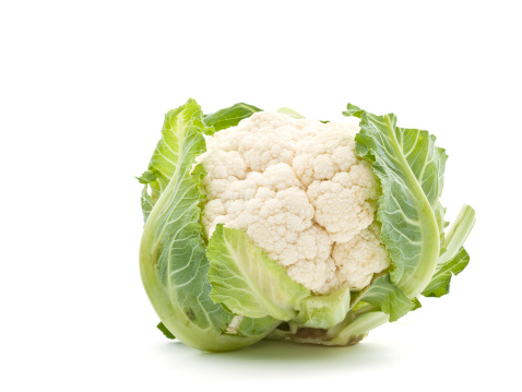 Vegetarian Food「Cauliflower on white background」:スマホ壁紙(12)