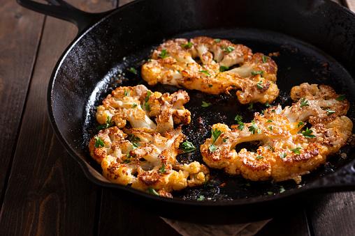 Skillet - Cooking Pan「Cauliflower Steaks」:スマホ壁紙(7)