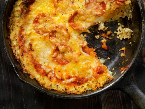 Cast Iron「Cauliflower Crust Skillet Pizza with Gluten Free Pepperoni」:スマホ壁紙(8)
