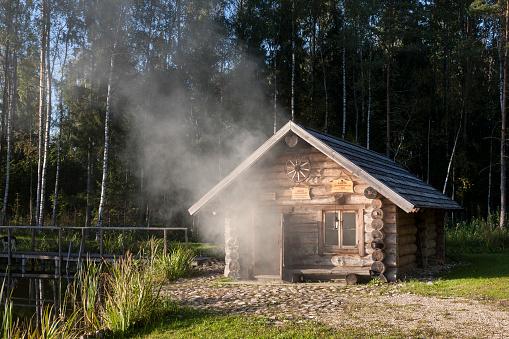 Health Spa「Estonia, wooden smoke sauna in Sokka holiday resort」:スマホ壁紙(19)
