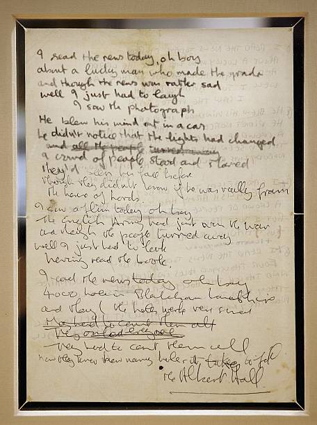Beatles Lyrics Up For Auction:ニュース(壁紙.com)