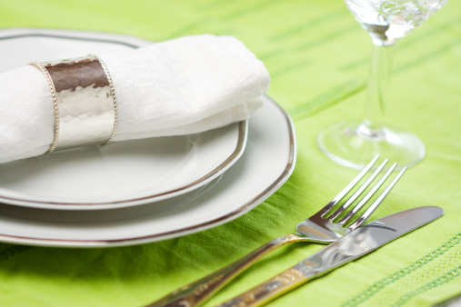 Party - Social Event「A pastel green colored dinner place setting」:スマホ壁紙(12)
