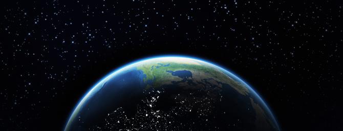 Planet Earth「Earth and stars」:スマホ壁紙(12)