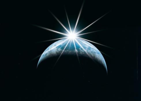 Corona - Sun「Earth and starburst」:スマホ壁紙(3)