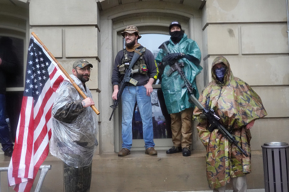 Stay at Home Order「Protestors Rally At Michigan State Capitol Against Shelter-In-Place Orders」:写真・画像(18)[壁紙.com]