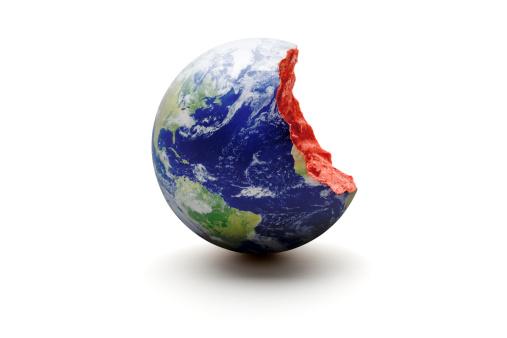 Destruction「Bitten Earth World globe. Exploitation Environment Concept」:スマホ壁紙(4)