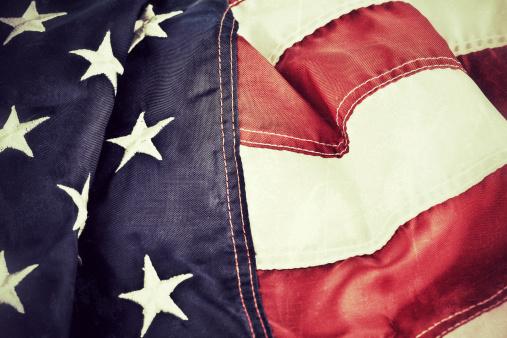 Fourth of July「Vintage American Flag Background」:スマホ壁紙(0)
