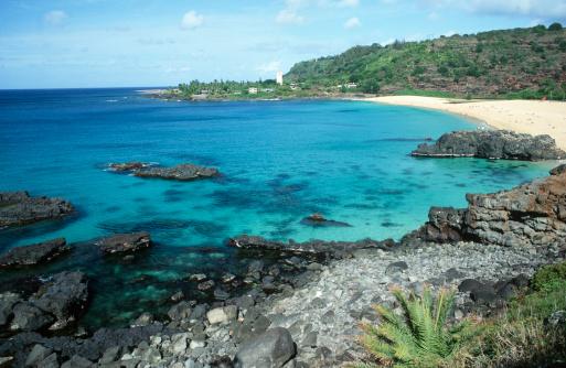 オアフ島「Scenic View of Waimea Bay」:スマホ壁紙(14)