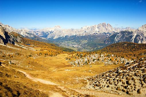 Ski Resort「Scenic view of Cortina d'Ampezzo, Dolomite Alps, Italy」:スマホ壁紙(5)
