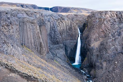 Basalt「Scenic view of Litlanesfoss waterfall, Iceland」:スマホ壁紙(6)