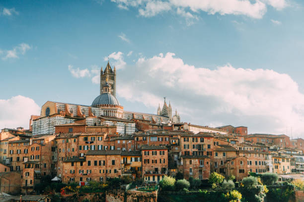 Scenic view of Siena from viewpoint:スマホ壁紙(壁紙.com)