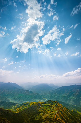 Himalayas「Scenic view of mountain horizon.」:スマホ壁紙(7)