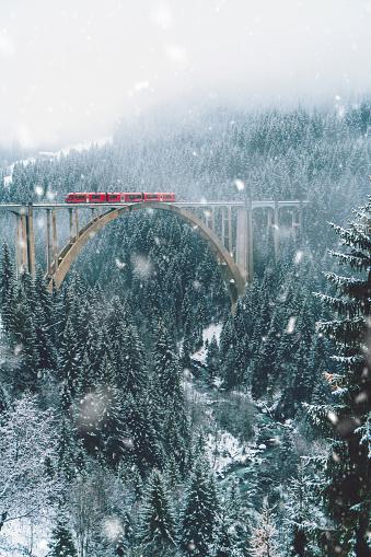 Fairy Tale「Scenic view of train on viaduct in Switzerland」:スマホ壁紙(1)