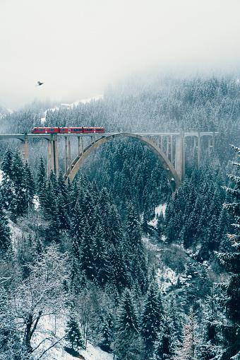 Fairy Tale「Scenic view of train on viaduct in Switzerland」:スマホ壁紙(5)