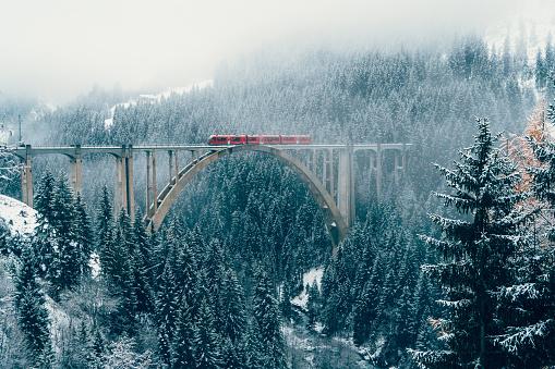 Fairy tale「Scenic view of train on viaduct in Switzerland」:スマホ壁紙(3)