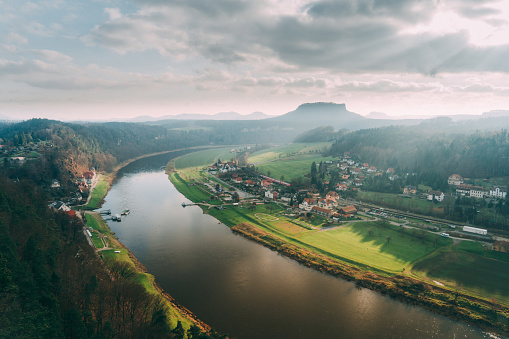 Saxony「Scenic view of Saxon Switzerland in Germany」:スマホ壁紙(17)