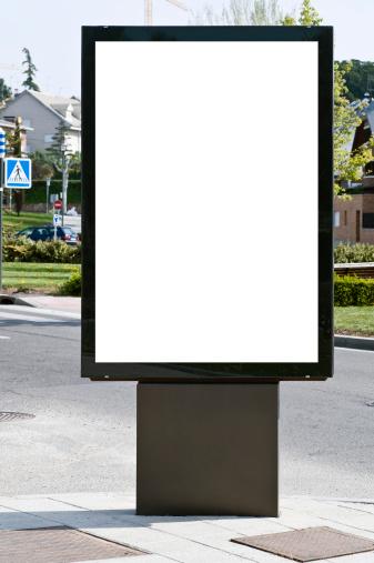 Pole「White billboard in an urban setting」:スマホ壁紙(9)