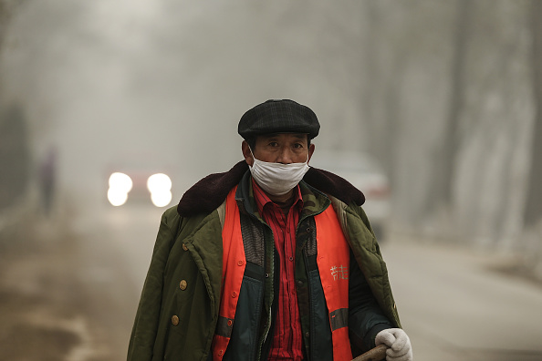 Environmental Damage「Beijing Blanketed In Heavy Smog」:写真・画像(7)[壁紙.com]