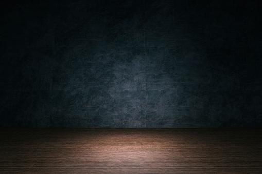 Vignette「Room background, hardwood floor, stone wall」:スマホ壁紙(12)