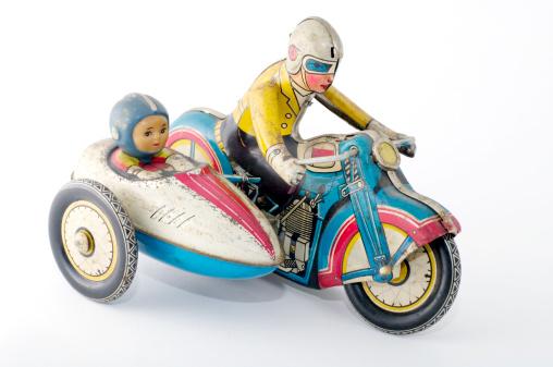 自転車・バイク「おもちゃ:錫 モーターサイクル」:スマホ壁紙(8)