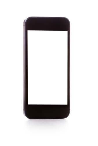 Portability「Smartphone with Blank Screen isolated on white」:スマホ壁紙(3)