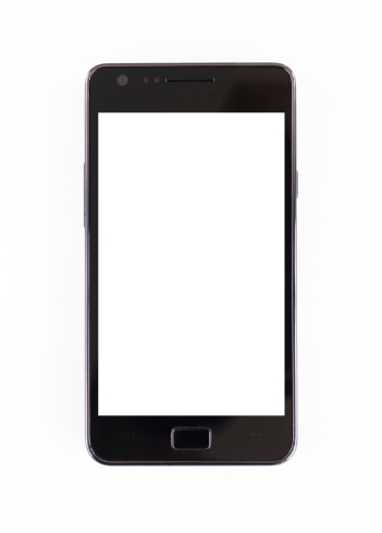 人物なし「Smartphone on white background」:スマホ壁紙(7)
