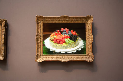 Painting - Art Product「fruit pie flan photograph in frame」:スマホ壁紙(15)