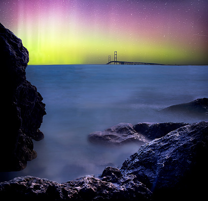 star sky「Norther lights over the Mighty Mac」:スマホ壁紙(8)