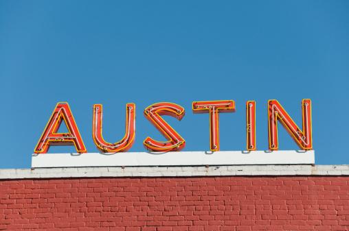 Austin - Texas「Austin Orange Neon Sign」:スマホ壁紙(7)