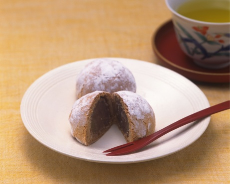 Wagashi「Sweet Buns, High Angle View, Differential Focus」:スマホ壁紙(11)