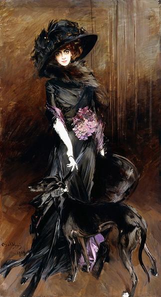 1908年「Marchesa Luisa Casati With A Greyhound」:写真・画像(19)[壁紙.com]