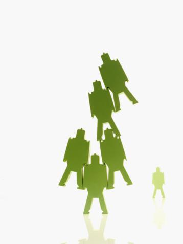 Battle「Green paper people」:スマホ壁紙(16)