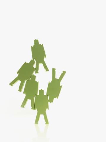 Battle「Green paper people」:スマホ壁紙(17)