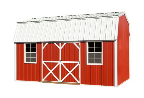 Agricultural Building「Red Barn Isolated」:スマホ壁紙(7)
