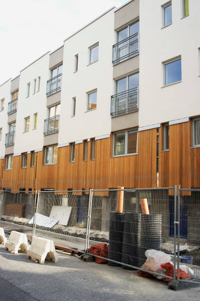 Regeneration of East London, UK. Example of a new property development built with sustainable material - timber cladding.:ニュース(壁紙.com)