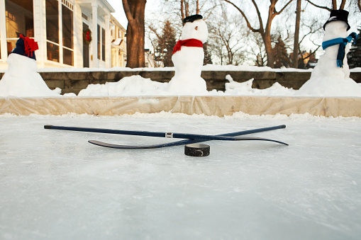 雪だるま「front yard home hockey rink Minneapolis, Minnesota」:スマホ壁紙(6)