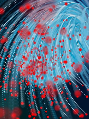 Cryptocurrency「Abstract Glowing fiber optic strings in dark」:スマホ壁紙(0)