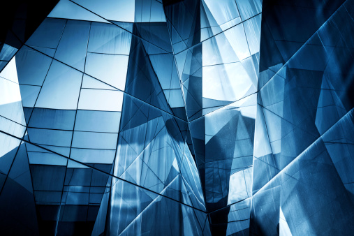 Glass - Material「Abstract Glass Architecture」:スマホ壁紙(5)