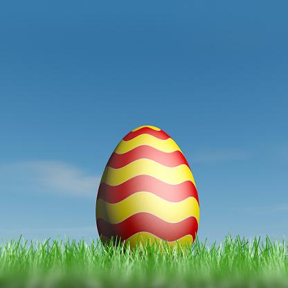 Easter「Easter egg in green grass」:スマホ壁紙(14)