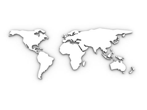 Pacific Ocean「World Map 3D」:スマホ壁紙(18)