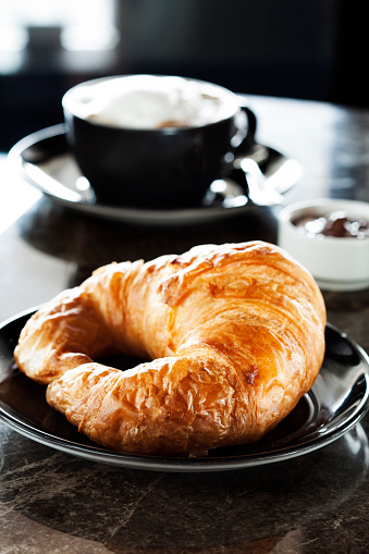 Sweet Bun「Fresh croissantCup of coffee and croissants,」:スマホ壁紙(2)