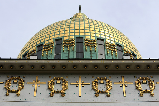 Austrian Culture「Dome. Steinhof Church built by Otto Wagner between 1902 and 1907.」:スマホ壁紙(9)