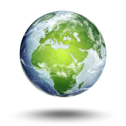 Planet Earth「The European Eastern hemisphere on a globe isolated on white」:スマホ壁紙(13)