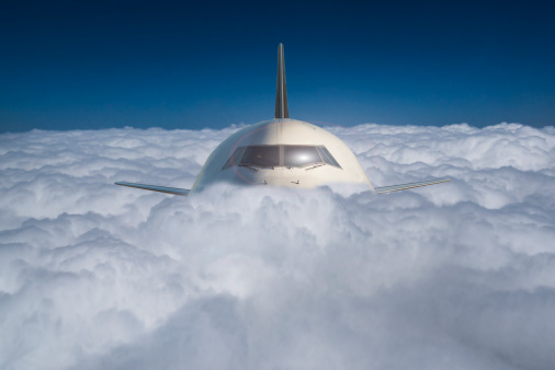 Miami「Commercial jet in a sea of clouds」:スマホ壁紙(14)